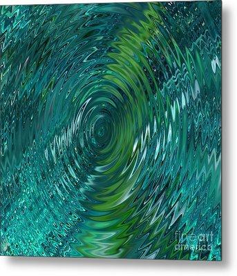 Ripple Sea Glass  Metal Print by Christine Fournier