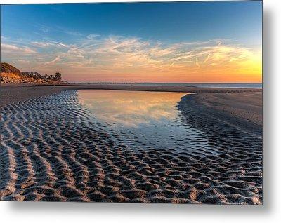 Ripples In The Sand Metal Print by Debra and Dave Vanderlaan
