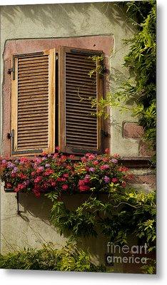 Riquewihr Window Metal Print by Brian Jannsen