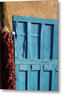 Ristras In Taos Metal Print by Gia Marie Houck