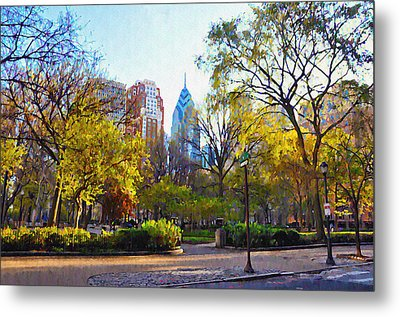 Rittenhouse Square In The Spring Metal Print by Bill Cannon