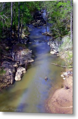 River At Noccalula Falls Metal Print by Debra Forand