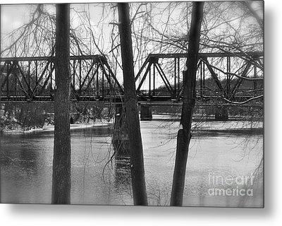 River Bridge Metal Print by Jonathan Brown