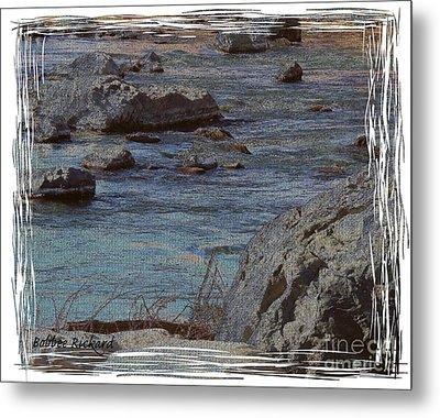 River Flows Metal Print by Bobbee Rickard