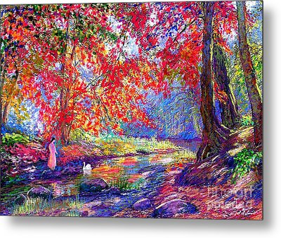 River Of Life, Colors Of Fall Metal Print by Jane Small