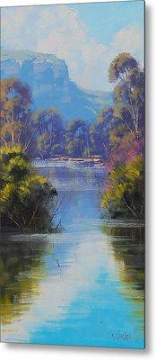 River Reflections Megalong Creek Metal Print by Graham Gercken
