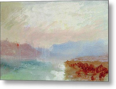 River Scene Metal Print by Joseph Mallord William Turner