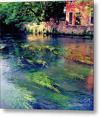 River Sile In Treviso Italy Metal Print by Heiko Koehrer-Wagner