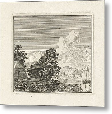 River View With A Haystack, Print Maker Hendrik Hoogers Metal Print by Artokoloro