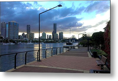 Riverwalk Metal Print by Edwin Vincent
