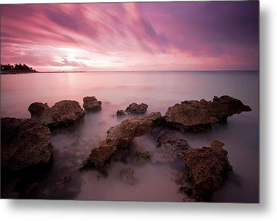 Riviera Maya Sunrise Metal Print by Adam Romanowicz