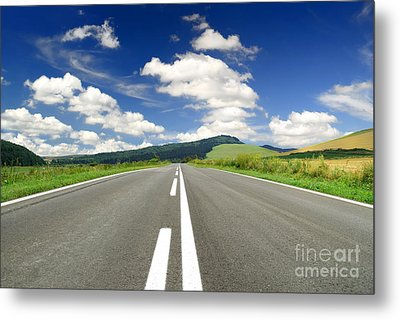 Road And Beautiful Sky Metal Print by Boon Mee