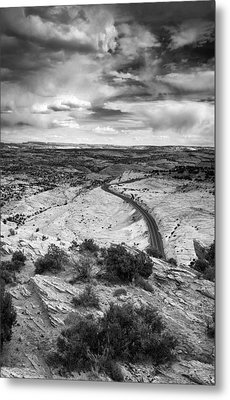 Road In The Desert Metal Print by Andrew Soundarajan