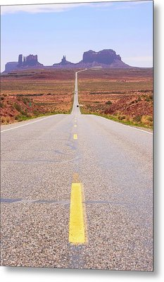 Road To Monument Valley. Metal Print by Mark Williamson