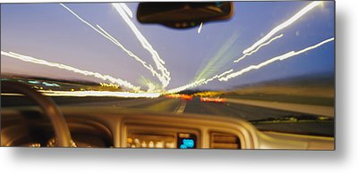 Road Viewed From A Car, Atlanta, Georgia Metal Print by Panoramic Images