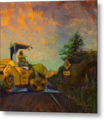 Road Work Ahead Metal Print by Athena  Mantle