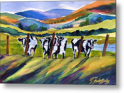 Roadside Cows Near San Luis Metal Print by Therese Fowler-Bailey
