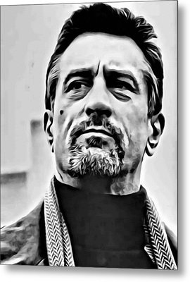 Robert De Niro Portrait Metal Print by Florian Rodarte