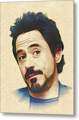 Robert Downey Jr. Metal Print by Marina Likholat
