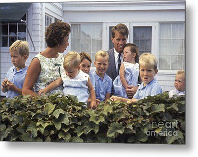 Robert F. Kennedy And Family 1959 Metal Print by The Phillip Harrington Collection