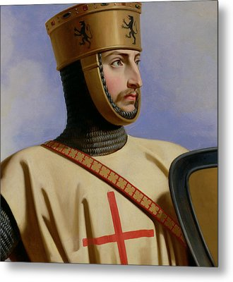 Robert II Le Hierosolymitain Count Of Flanders Metal Print by Henri Decaisne