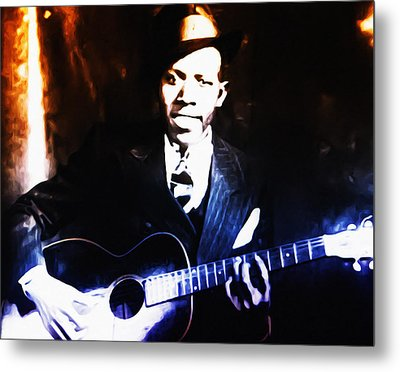 Robert Johnson - King Of The Blues Metal Print by Bill Cannon