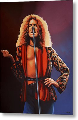 Robert Plant Of Led Zeppelin Metal Print by Paul Meijering