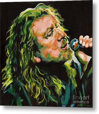 Robert Plant 40 Years Later Like Never Been Gone Metal Print by Tanya Filichkin