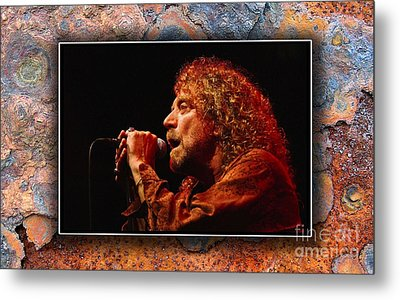 Robert Plant Art Metal Print by Marvin Blaine