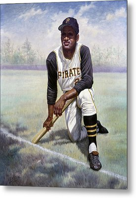 Roberto Clemente Metal Print by Gregory Perillo