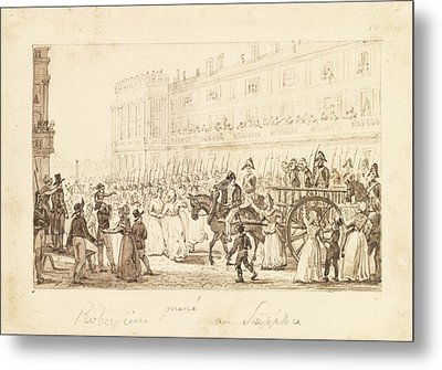 Robespierre And His Accomplices Metal Print by Celestial Images