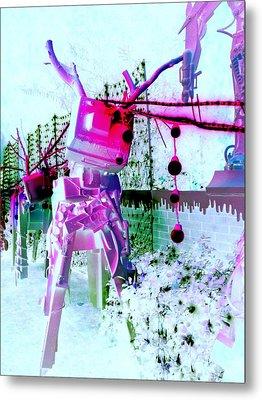 Robo Reindeer Metal Print by Randall Weidner