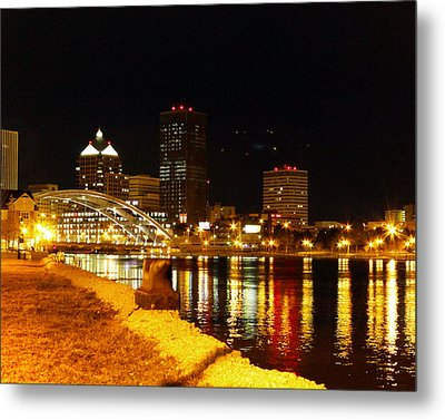 Rochester At Night Metal Print by Tim Buisman