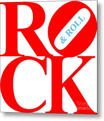 Rock And Roll 20130708 Red White Blue Metal Print by Wingsdomain Art and Photography