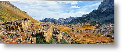 Rock Formations In A Canyon, South Fork Metal Print by Panoramic Images
