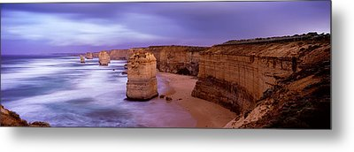 Rock Formations In The Sea, Twelve Metal Print by Panoramic Images