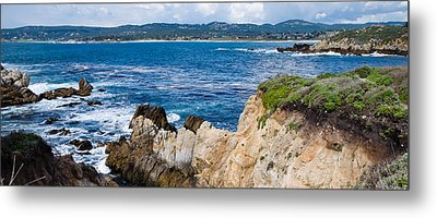 Rock Formations On The Coast, Point Metal Print by Panoramic Images