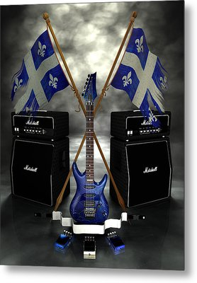 Rock N Roll Crest - Quebec Metal Print by Frederico Borges