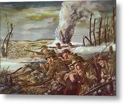 Rock Of The Marne Metal Print by Granger