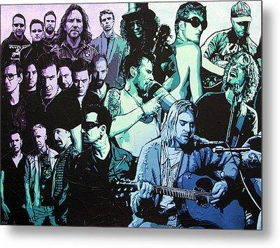 Rock Triptych - Panel A Metal Print by Bobby Zeik