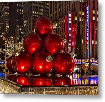 Rockefeller Center Cheer Metal Print by Susan Candelario