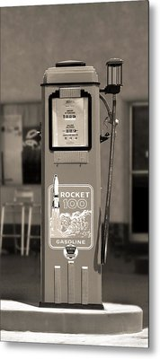 Rocket 100 Gasoline - Tokheim Gas Pump 2 Metal Print by Mike McGlothlen