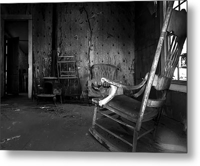 Rocking Chair Metal Print by Cat Connor