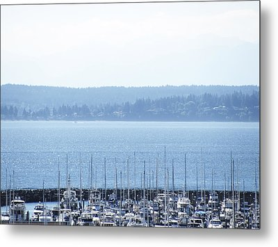 Rocking In The Puget Sound Metal Print by Laura Watts