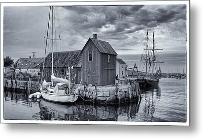 Rockport Harbor Lobster Shack Metal Print by Stephen Stookey