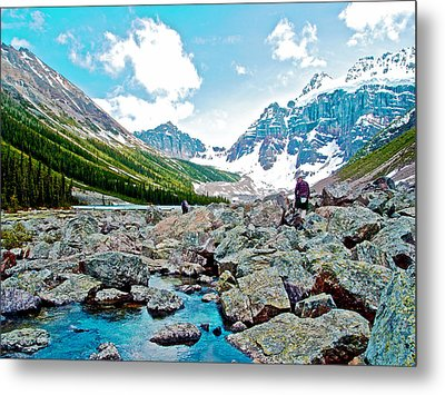 Rocky End Of Consolation Lake In Banff National Park-alberta Metal Print by Ruth Hager