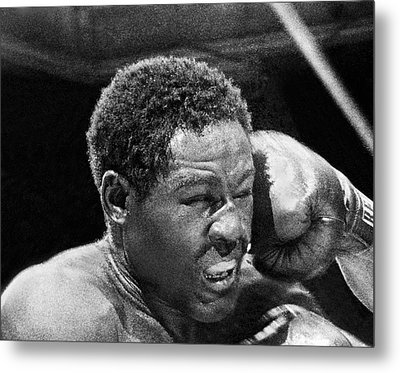 Rocky Marciano Fist Metal Print by Underwood Archives