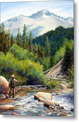Rocky Mountain High Metal Print by Mary Giacomini