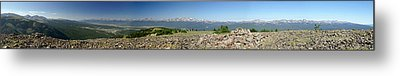 Rocky Mountain Rooftop Panoramic Metal Print by Jeremy Rhoades