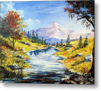Rocky Mountain Stream Metal Print by Lee Piper